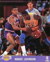 Magic Johnson 8x10 Color Photo Picture In Action Los Angeles Lakers