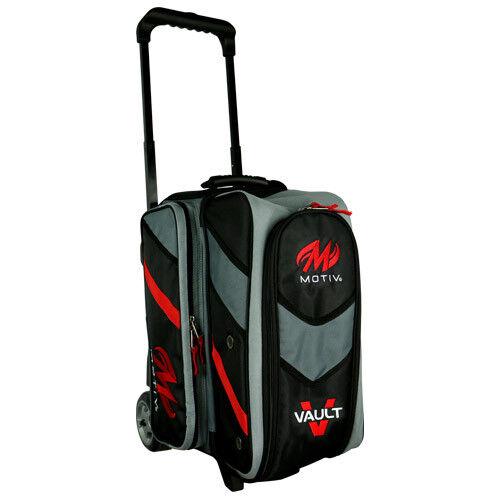 Motiv Vault 2 Ball Double Roller Bowling Bag Black