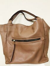 Gianni Chiarini Italian Made Beige Leather Large Designer Carry-all Tote Handbag