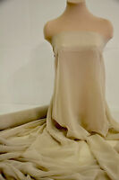 Chiffon Sheer Fabric Cashmere Tan Bridal Home Decor Pageant 60 By The Yard