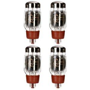 New Current Matched Quad (4) Reissue Genalex Gold Lion KT66 6L6 Vacuum Tubes