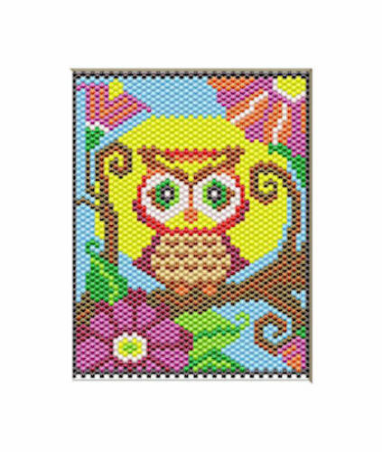 HAPPY OWL BEADED BANNER PDF PATTERN ONLY