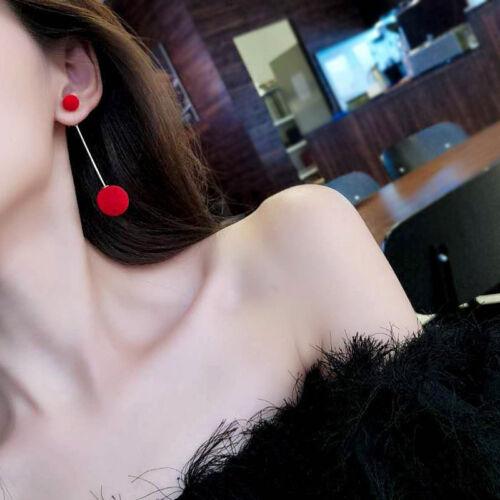 Fashion 1 Pair Women Ball Double-sided Earrings Long Dangle Jewelry Charm Hot
