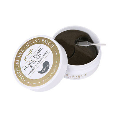 [PETITFEE] Black Pearl & Gold Hydrogel Eye Patch - 60 sheet ROSEAU