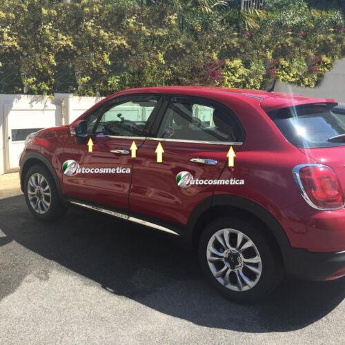 Strisce Cromate finestrini Specifiche Fiat 500X Raschiavetri cromati profili