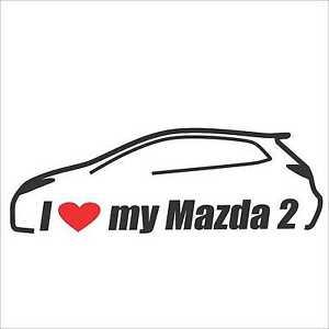 I my Mazda 2 Car Bumper Window Vinyl Decal Sticker Hatchback ...