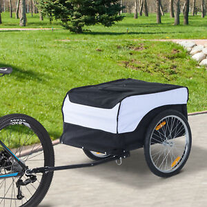 Cargo-Bike-Trailer-Luggage-Carrier-Cart-Foldable-w-Cover