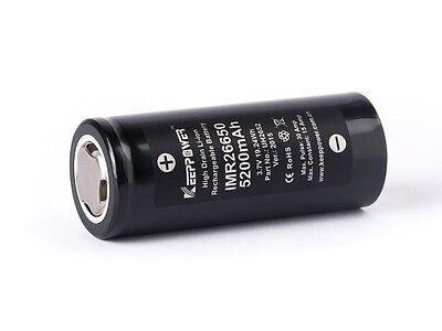 Keeppower IMR26650 - 5200mAh, 15A, 3,7V Li-ion Akku