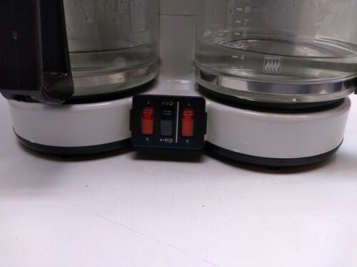 Krups Duo Thek Double Coffee Maker 8 Cup Glass Carafe White Germany