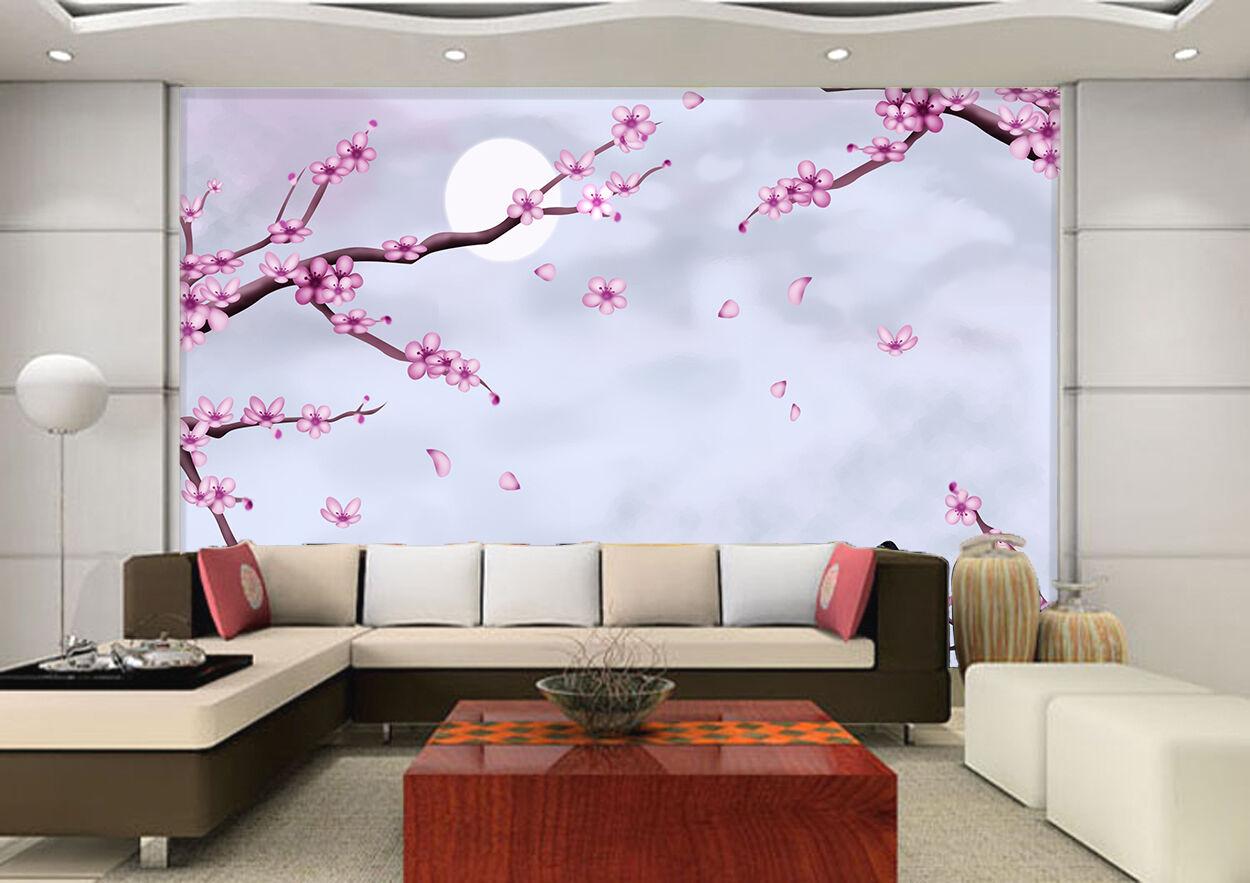 3D Fiore Plum 566 Parete Murale Foto Carta da parati immagine sfondo muro stampa