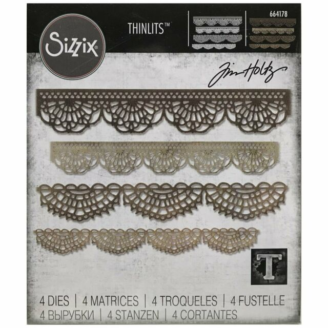 Sizzix Crochet 664178 Thinlits Dies           Tim Holtz Crochet Die Set