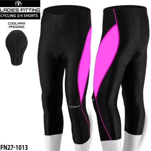 Women Cycling Tights 3//4 Shorts Padded Ladies Leggings Anti Bac Coolmax Pad
