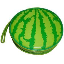Green Watermelon Pattern 24 Capacity CD DVD Round Wallet Case Holder LW