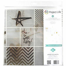 Project Life HEIDI SWAPP 12x12 GOLD FOIL POCKET PAGES scrapbooking 12-PK 98178