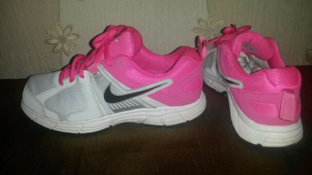 eb221cf8eb4 Nike Womens Dart 10 Trainers Running Shoes Grey  Pink UK 5