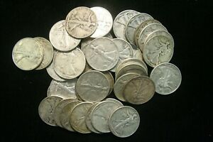 Walking-Liberty-Half-Dollars-90-Silver-Coin-Lot-FINE-or-BETTER-Choose-How-Many