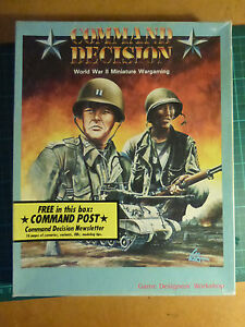 Command Decision UNPUNCHED By Games Design Workshop (GDW) WW2 Miniature rules