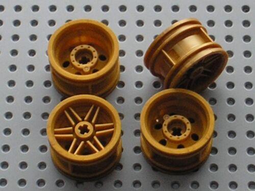 4 x LEGO NINJAGO PearlGold Wheel Rim ref 56145 Set 42046 70747 76012 70725 ...