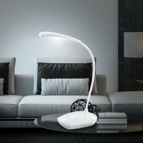 Touch Dimmer LED Tisch Leuchte Arbeits Zimmer Lese Lampe flexibel USB Kabel