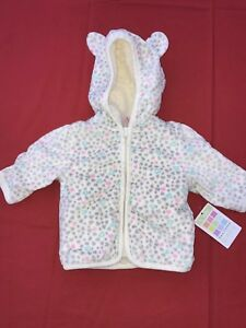 Healthtex Infant Baby Green Girls Fleece Pram with Colored Hearts One Piece
