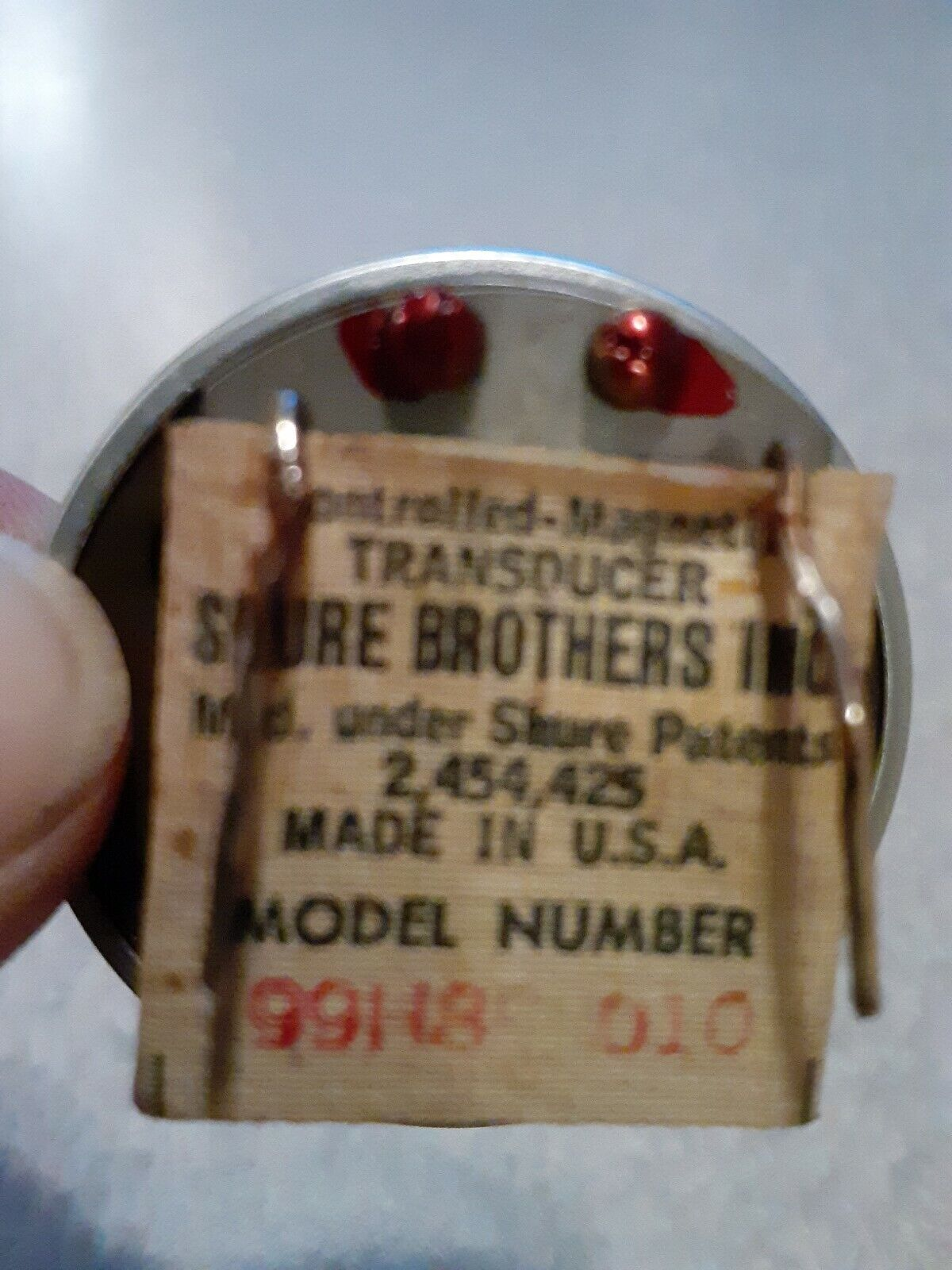 Vintage 1960 Shure 99H86 Hi-Z Controlled Magnetic Element CM Harp Mic 1020 Ohms