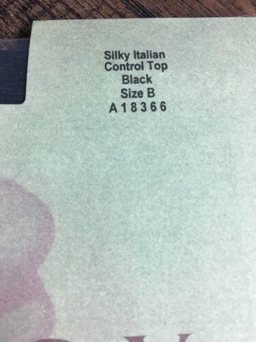 Legacy Legwear Silky Italian Control Top Pantyhose Black Size B New A18366
