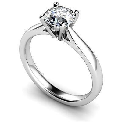 1ct Diamond Solitaire Engagement Ring Platinum (950) Fully UK Hallmarked