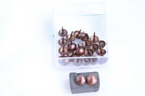 25 Qualitäts Ziernägel Polsternägel Nagel Made in Germany 11mm brüniert braun