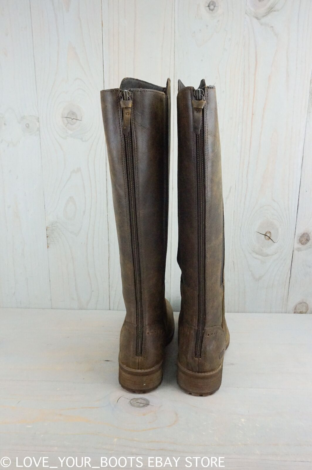UGG VINSON STOUT LEATHER TALL RIDING BOOT REAR ZIPPER BOOTS WOMENS US 6.5 NIB
