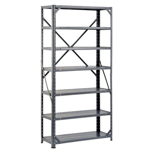 Edsal Mfg HC30127 Shelving Unit Stockpile Storage 12 x 30 x 60-In 7-Shelf