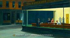 """Nighthawks"", Edward Hopper, Reproduction in Oil, 36""x20"""