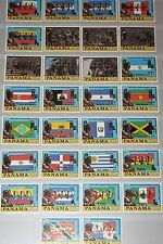 PANAMA 1980 1398-27 V-VI Flags  Bolivar Olympics Moscow ovp silver Gold MNH