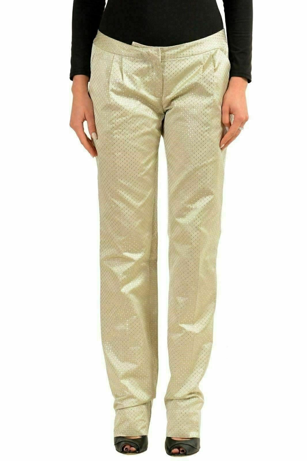 Just Cavalli Women's Sparkling Pleated Casual Pants US 4 IT 40
