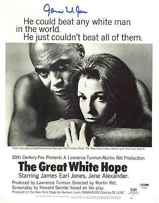 Entertainment Memorabilia Autographs-original James Earl Jones The Great White Hope Authentic Signed 11x14 Photo Psa #ab43680 Meticulous Dyeing Processes