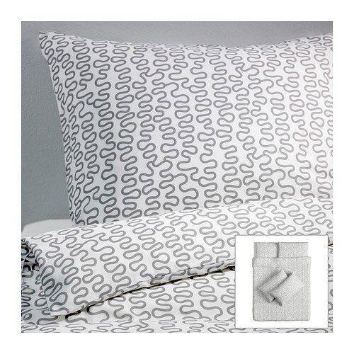 IKEA Bettwäsche KRAKRIS 3-teilig 240x220cm Bettbezug /& 2 Kissenbezüge 80x80 OVP!