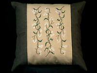 Embroidered Forget-me-nots Flower Floral Accent Pillow 12 X 16 Insert
