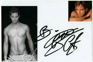 Autografo-di-Gabriel-Garko-su-foto-Italian-Actor-Signed-Photo-Shirtless-Cinema