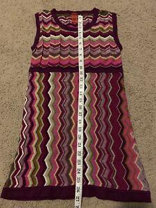 3b4f76631a05 Missoni for Target Purple Chevron Sweater Dress Girls size XL