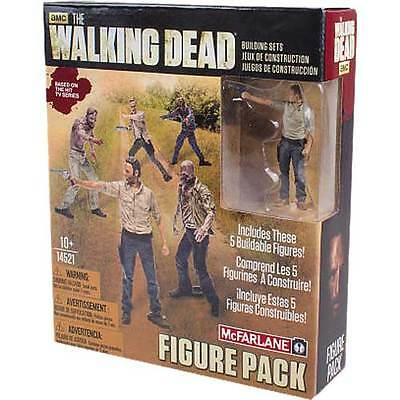 The Walking Dead - 5 Figure Building Set Pack NEW McFarlane Toys