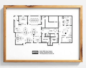 El Plan De Pisos De Oficinas Cartel Dunder Mifflin Plan De Calidad De Pared Arte Impresión Ebay