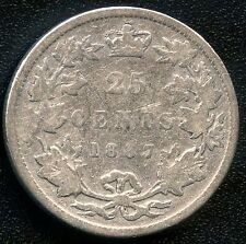1887 Canada 25 Cent Silver Coin (5.81 Grams .925 Silver) Key Date