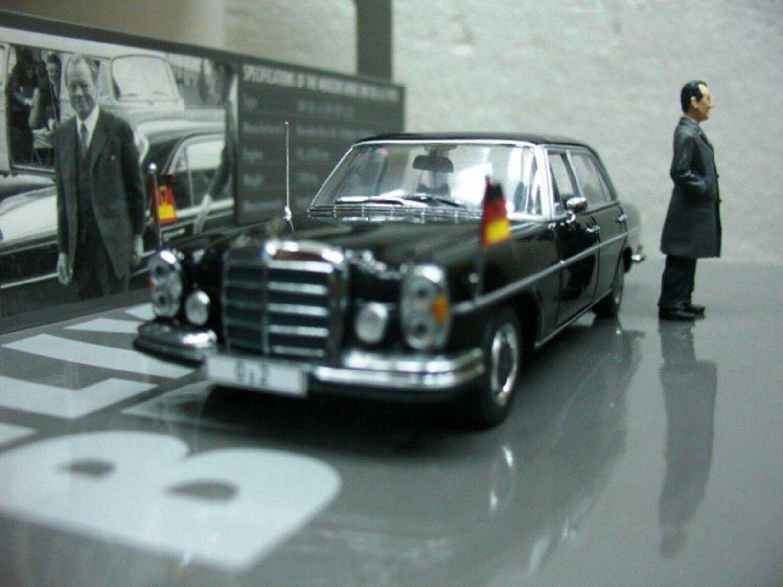 Wow extremadonnate raro Mercedes W109 300SEL 1970 canciller W. Brandt 1 43 Minichamps