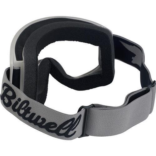 Biltwell Moto 2.0 Goggle White Grey Titanium motorcycle eye protection goggles