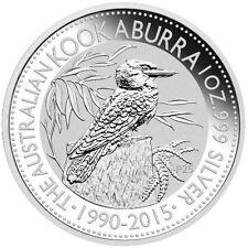 2015 Australian Kookaburra 1oz .999 Silver Coin (Mint Condition In Capsule)