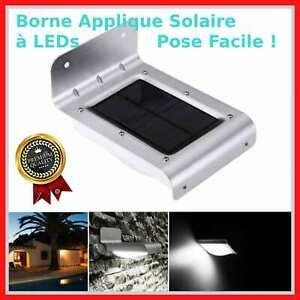 Eclairage-Exterieur-16-LED-Solaire-Etanche-Design-Borne-Sans-fil-Terrasse-Garage