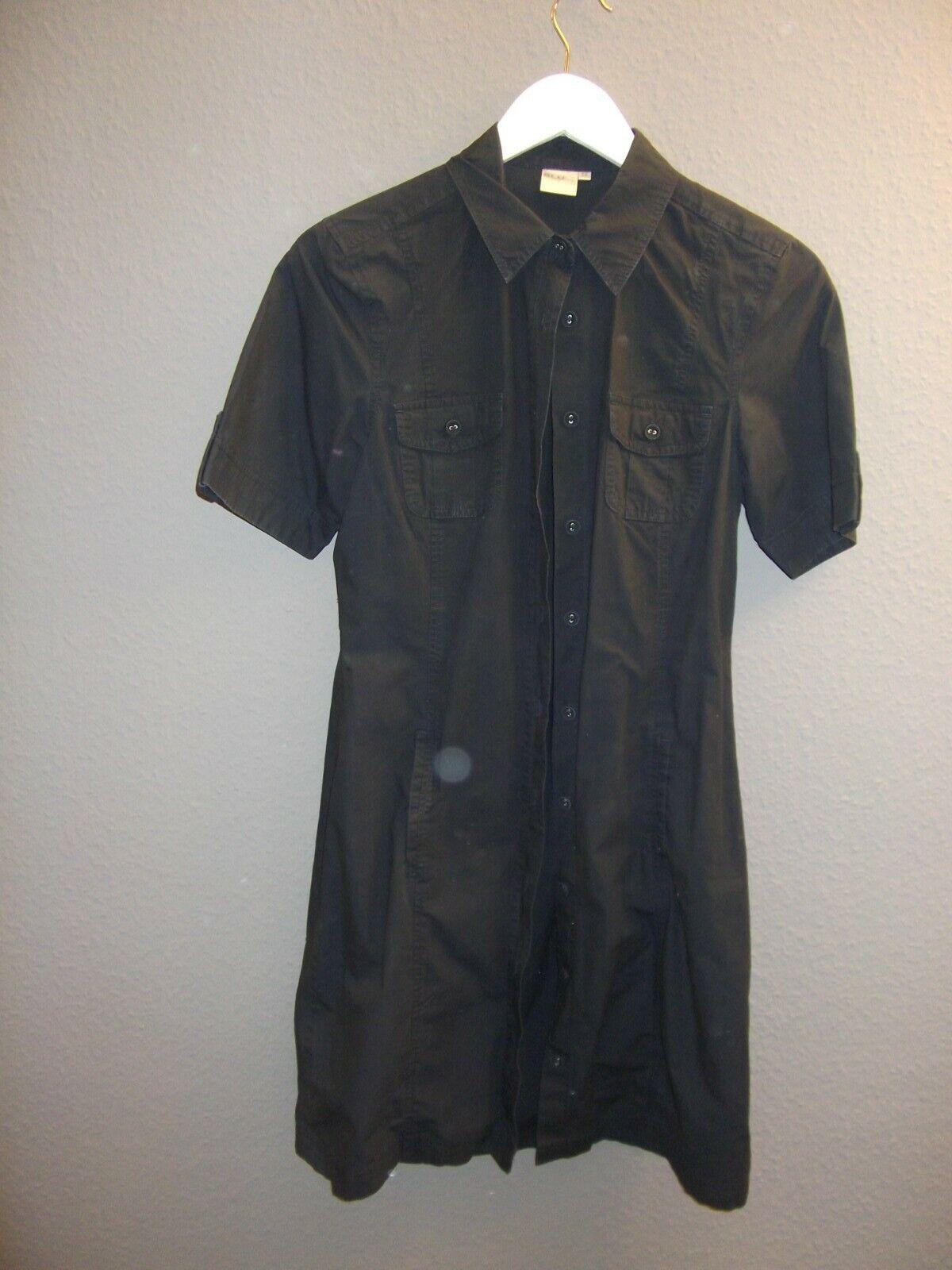 Ladies Vest Style Dress Black Size 36