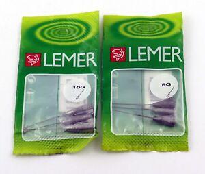 Assortiment Lot 2 X 3 Avançons Gouvernail Lemer  6 grs et 10 grs Truite