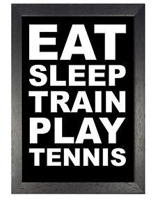 Détails Sur Tennis Citation 2 Motivation Inspiration Affiche Noir Et Blanc Train Sport Photo