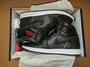 Nike-Air-Jordan-1-Retro-High-OG-034-Black-Satin-Gym-Red-034-Men-s-Size-10-5