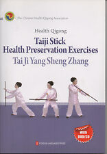 Health Qigong: Taiji Stick Heatlh Perservation Exercises (1Book +1 DVD/1 CD)